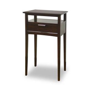 サイドテーブル コンソール 引出し付 天然木 ミッドセンチュリー調 MORRIS 幅45cm ( 完成品 電話台 ファックス台 木製 )|interior-palette