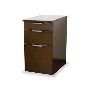 サイドチェスト 3段 天然木 ミッドセンチュリー調 MORRIS 幅42cm ( 完成品 木製 収納 デスクワゴン デスクチェスト )|interior-palette
