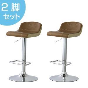 【週末限定クーポン】カウンターチェア 2脚セット 椅子 ローバック ソフトレザー 座面高62〜82cm ( イス いす チェア チェアー 回転椅子 回転いす )|interior-palette