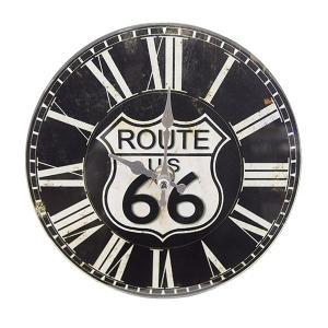 掛け時計 置き時計 卓上ガラス時計 ROUND 17cm Route66 ルート66 アメリカ ( アナログ 時計 壁掛け時計 インテリア 雑貨 )|interior-palette