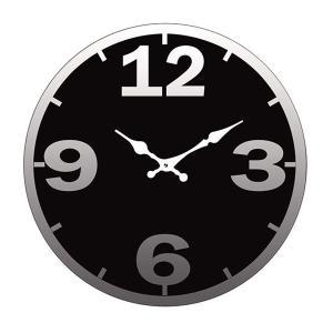 掛け時計 置き時計 卓上ガラス時計 ROUND 17cm Simple シンプル3 ブラック ( アナログ 時計 壁掛け時計 インテリア 雑貨 )|interior-palette