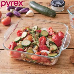 グラタン皿 大皿 26cm パイレックス Pyrex スクエア 耐熱ガラス オーブンウェア ディッシ...