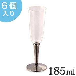プラスチック製のシャンパンカップ6個入りです。カップ部分と台座は分解でき、コンパクトに収納できます。...