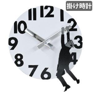 掛け時計 19cm ホワイト EDGE HANGING GENTLEMAN ( アナログ 時計 壁掛け時計 インテリア 雑貨 )|interior-palette