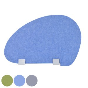 デスクトップパネル タマゴ型 仕切り板 フェルト製 約幅60cm ( 間仕切り 衝立 パーテーション )|interior-palette