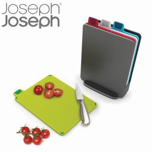 人気商品「インデックス付きまな板」のミニタイプです。4枚のまな板とケースのセットでコンパクトに収納で...