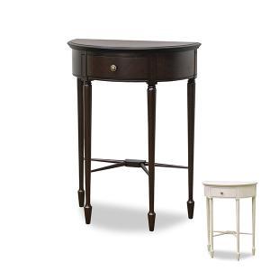 【ポイント最大26倍】コンソールテーブル 半円形 クラシック調 猫脚 フルール 幅60cm ( 木製 天然木 完成品 電話台 ファックス台 机 )|interior-palette