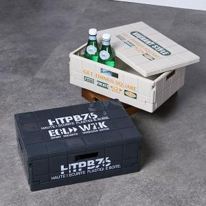 収納ケース リシェルコンテナ 折りたたみコンテナ 浅型 ( コンテナ 収納ボックス 収納BOX )の写真