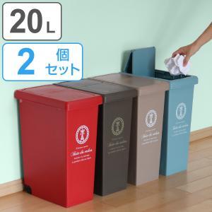 ゴミ箱 2個セット 20L ふた付き スライドペール 20リットル ごみ箱 ( 屑入れ フタ付き ダストボックス )|interior-palette