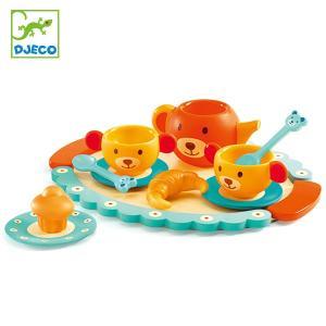ままごと 木製 テディズパーティー 食器セット 知育玩具 ジェコ DJECO ( おままごと セット...