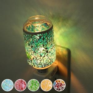 照明 アロマランプ モザイク ガラス 足元 フットランプ コンセント型 ( アロマ ライト 間接照明 ランプ ) interior-palette