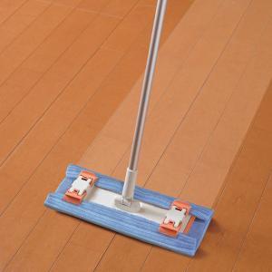 フローリングワイパー 本体 伸縮タイプ ( フローリング ワイパー 伸縮 モップ マイクロファイバー 拭き掃除 雑巾 ぞうきん シート )|interior-palette