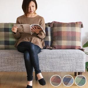 クッション 座布団 インド綿ウール混背当てクッション メルモ 45cm角 ( フロアクッション シートクッション チェアクッション )|interior-palette