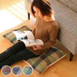 クッション 座布団 インド綿ウール混長座布団 メルモ 約50×100cm ( フロアクッション シートクッション チェアクッション )|interior-palette