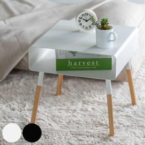 【週末限定クーポン】サイドテーブル プレーン PLAIN 幅35cm ( ローテーブル 収納付き ベッドサイドテーブル )|interior-palette