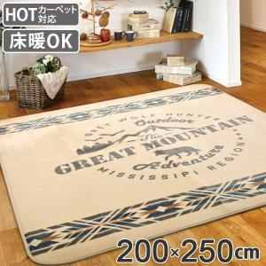 ラグ 3畳 200×250cm 床暖 ホットカーペット対応 ラグマット マウンテン アイボリー ( カーペット カバー マット )|interior-palette