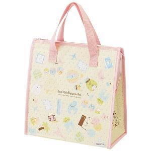 すみっコぐらしのかわいい保冷バッグです。お弁当箱とマイボトルが一緒に入る便利なサイズです。マチ幅が約...