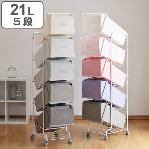 分別ゴミ箱 縦型 5分別 コンテナスタイル ゴミ箱 分別 ( ごみ箱 分別ごみ箱 キャスター付き )|interior-palette
