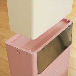 【週末限定クーポン】ゴミ箱 ふた付き 15SW フラップ式 15L コンテナスタイル 分別 ( ごみ箱 ダストボックス つみ重ね ) interior-palette 14
