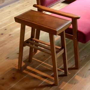 サイドテーブル 棚付 天然木フレーム レトロ調 JEM 幅45cm ( テーブル ソファテーブル ナイトテーブル )|interior-palette