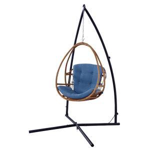 【48時間限定クーポン】ハンギングチェア ラタン製 クッション付 籐家具 ( チェア ハンモックチェア スイングチェア )|interior-palette