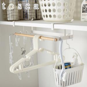 ハンガー収納 収納ラック 棚下ハンガー収納 トスカ tosca ホワイト ( ハンガー 洗濯ハンガー 収納 )|interior-palette