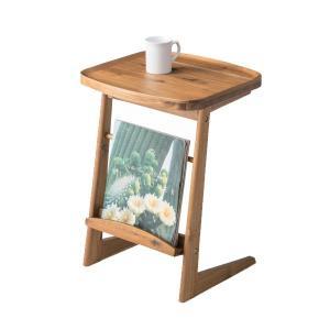 サイドテーブル 幅42cm 天然木 木製 ( コーヒーテーブル 机 テーブル )|interior-palette