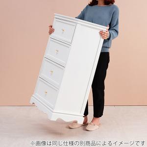 チェスト 4段 木製 カントリー調 シャビーウッド 幅50cm ( 姫系 白家具 ホワイト ) interior-palette 04