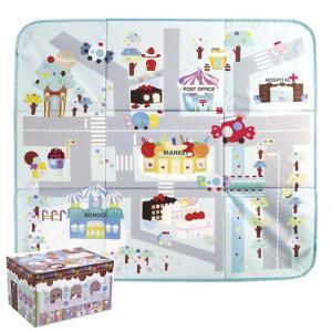 プレイマット 収納ボックス キャンディ おもちゃ お菓子の家 収納 子供用 ( マット 片付け おも...