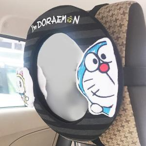ベビーミラー 車用 I'm DORAEMON カーミラーラウンド 赤ちゃん ( チャイルドシート 車 後部座席 後ろ向き ドラえもん )|interior-palette