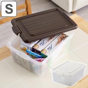 バラつく小物や封筒・B5ファイルまで入る便利なフタ式収納ボックスです。食品のストックや調理用具を入れ...