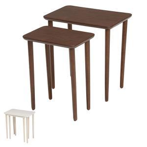 テーブル 大小2台セット ネストテーブル サイドテーブル コンパクト 収納 ( センターテーブル リビングテーブル ローテーブル )|interior-palette