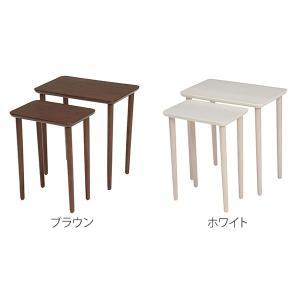 テーブル 大小2台セット ネストテーブル サイドテーブル コンパクト 収納 ( センターテーブル リビングテーブル ローテーブル )|interior-palette|02
