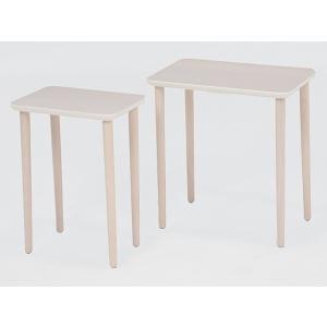 テーブル 大小2台セット ネストテーブル サイドテーブル コンパクト 収納 ( センターテーブル リビングテーブル ローテーブル )|interior-palette|11