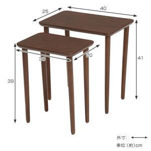 テーブル 大小2台セット ネストテーブル サイドテーブル コンパクト 収納 ( センターテーブル リビングテーブル ローテーブル )|interior-palette|03