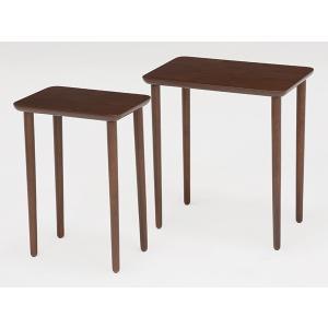 テーブル 大小2台セット ネストテーブル サイドテーブル コンパクト 収納 ( センターテーブル リビングテーブル ローテーブル )|interior-palette|06
