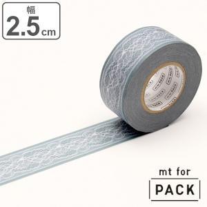 クラフトテープ 粘着テープ 幅広 mt for PACK フラワーレース 幅25mm ( ガムテープ...