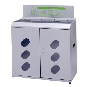 業務用 ゴミ箱 分別 資源回収ボックス W900タイプ シルバーM ( ダストボックス ごみ箱 分別ゴミ箱 分別ごみ箱 )|interior-palette|08