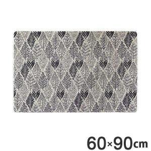 玄関マット 60×90 屋外 屋内 両用 ふかふかテラスマット リーフ Lサイズ ( マット エントランスマット 泥落としマット )|interior-palette