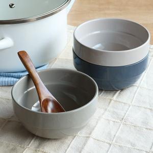 ボウル 13cm スタッキング 積み重ねできるスープボウル 陶磁器 ( 500ml 電子レンジ対応 食器 スープカップ シリアルボウル )|interior-palette