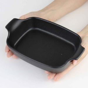 オーブンウェア 22cm 鋳物風 深型 長方形 角型 グラタン皿 陶磁器 取っ手付 ( 耐熱皿 一人用 四角 スキレット風 グラタン ラザニア )|interior-palette|05