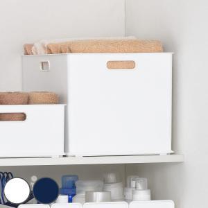 収納ケース L 約 幅40×奥行27×高さ24cm 白 ホワイト S&W サンバッサ プラスチック ( 収納ボックス ケース カラーボックス インナーボックス 日本製 )|interior-palette