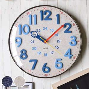 掛け時計 電波時計 アナログ電波ウォールクロック 壁掛け 時計 アナログ ( 壁時計 壁掛け時計 知育時計 ) interior-palette