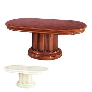 センターテーブル 幅120cm FRORENCE イタリア製 サルタレッリモビリ 机 円型 姫系 ( テーブル リビングテーブル ローテーブル )|interior-palette