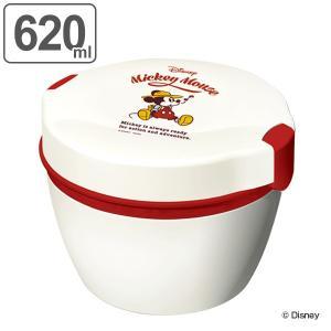 保温弁当箱 弁当箱 ミッキー 2段 620ml ( 食洗機対応 レンジ対応 保温 保冷 ランチボックス お弁当箱 )|interior-palette