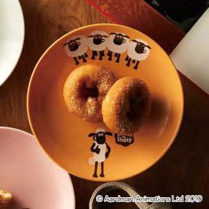 イギリスのショートアニメ「ひつじのショーン」のプレートです。ショーンと牧場の羊たちの絵柄です。17c...