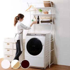 洗濯機ラック アイアンフレーム ランドリー収納 幅75cm ( ランドリーラック 洗濯機収納 ランドリー 洗濯機 )|interior-palette