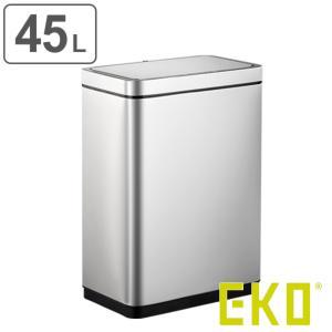 ゴミ箱 ステンレス 45L EKO センサー デラックスミラージュセンサービン 充電式 ごみ箱 ダストボックス ( キッチン ふた付き 45リットル 自動 ごみばこ ) interior-palette