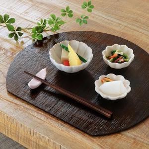 ランチョンマット 36×32cm 半月 漆 天然木 プレイスマット お膳 ( トレー 板膳 木製 フチなし ウッドトレイ 角型 )|interior-palette