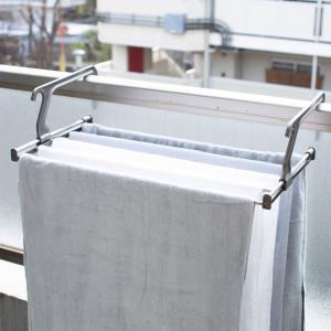 洗濯ハンガー 伸縮ランドリーラック 物干し 省スペース 洗濯 ( タオルハンガー バスタオルハンガー ラック ベランダ ) interior-palette